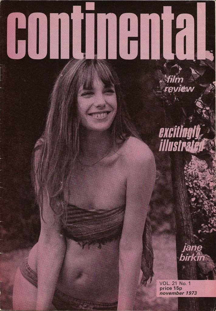 -Jane Birkin couverture Continental vol. 21 n°1 novembre 1973