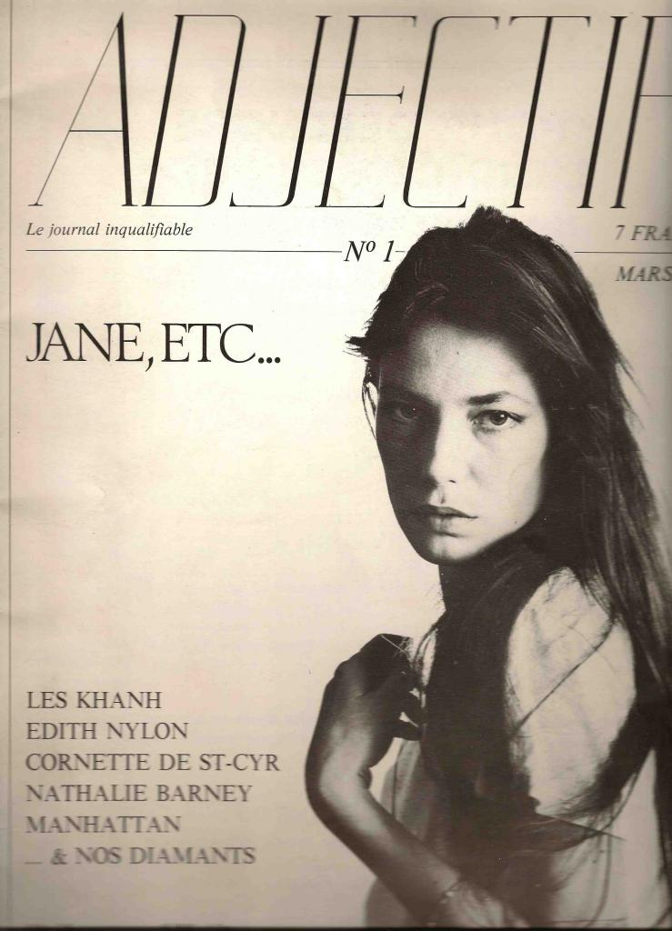 -Jane Birkin couverture magazine Adjectif n° 1 mars 1980