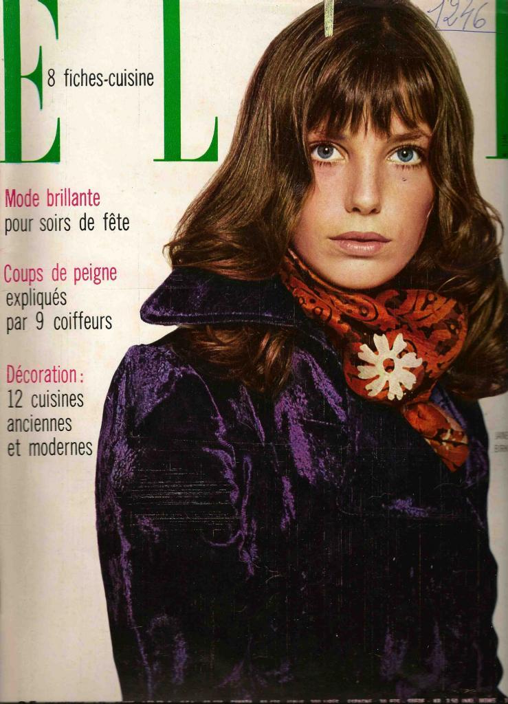 -Jane Birkin couverture magazine Elle n° 1246 3 novembre 1969