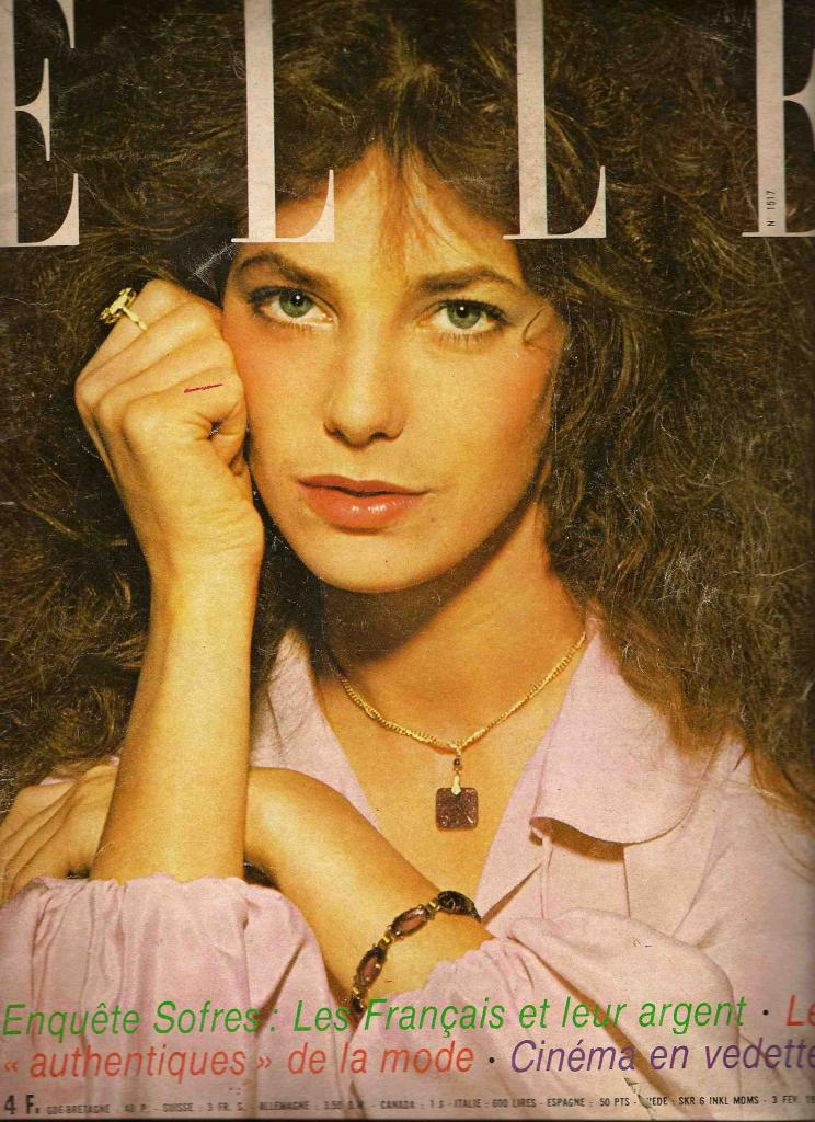 -Jane Birkin couverture magazine Elle n° 1517 3 février 1975