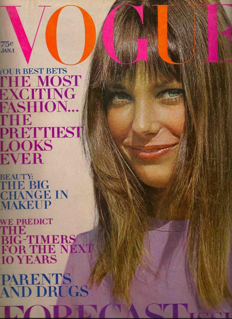 -Jane Birkin couverture magazine Vogue janvier 1970