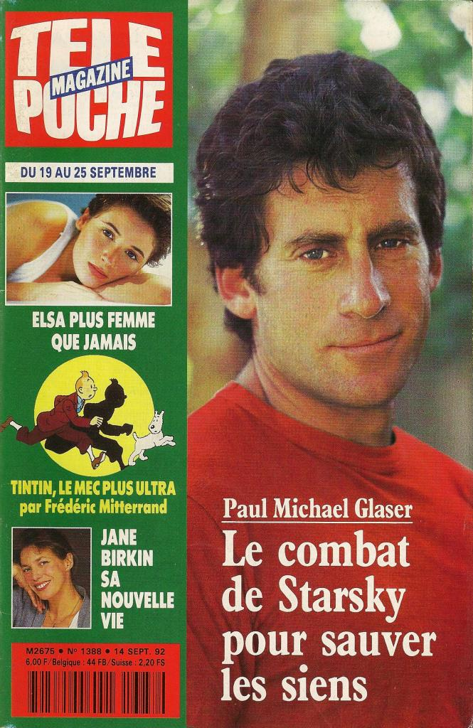 -Jane Birkin couverture Télé Poche magazine n° 1388 14 septembre 1992