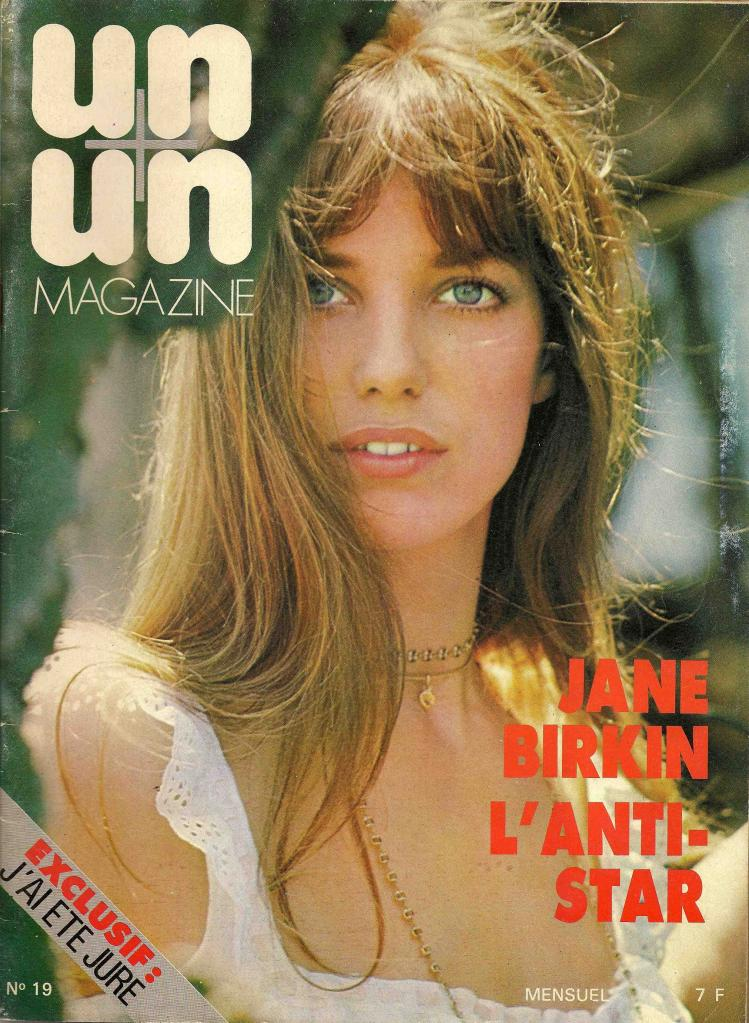 -Jane Birkin couvrture magazine Un + Un n° 19