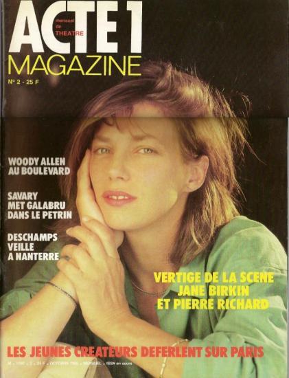 Jane Birkin couverture Acte 1 Magazine n° 2
