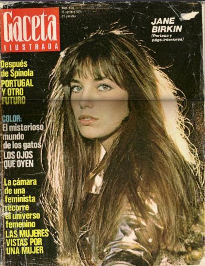 Jane Birkin couverture Gaceta ilustrada n° 640 13 octobre 1974