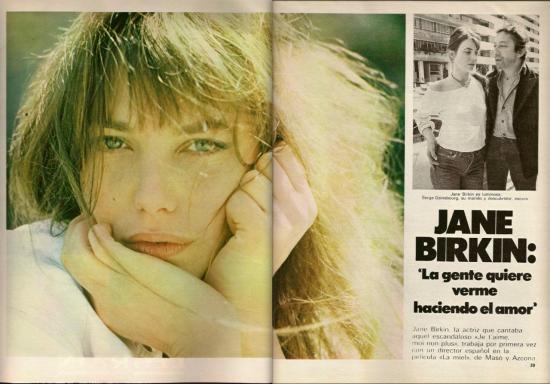 Jane Birkin magazine Gaceta ilustrada n° 1177 du 29 avril 1979
