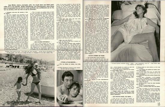 birkin gainsbourg Ciné revue, n° 26, 29 juin 1972