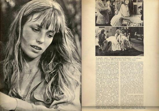 Jane Birkin reportage magazine Stella roman photo n° 2 années 70