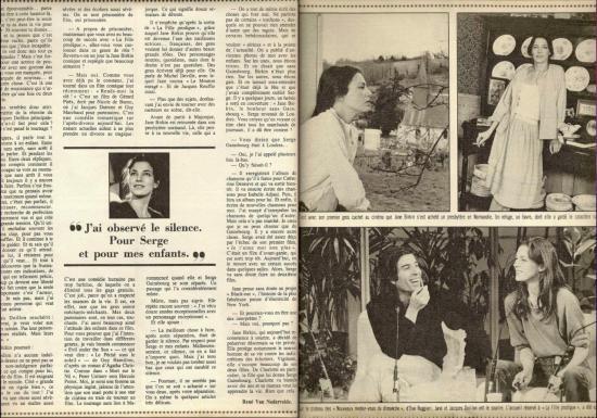 jacques doillon jane birkin reportage presse magazine belgique le-soir-illustre-n-2549-30-avril-1981