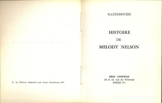 Gainsbourg-Melody-Nelson-éditions-Losfeld