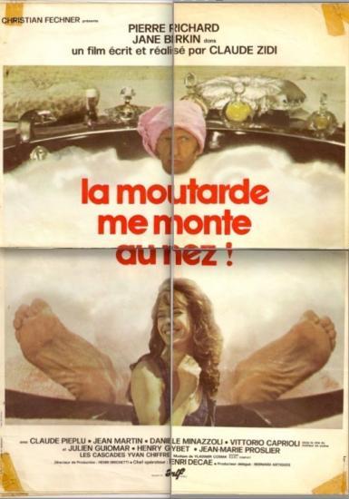 Jane Birkin affiche du film La moutarde me monte au nez de Claude Zidi