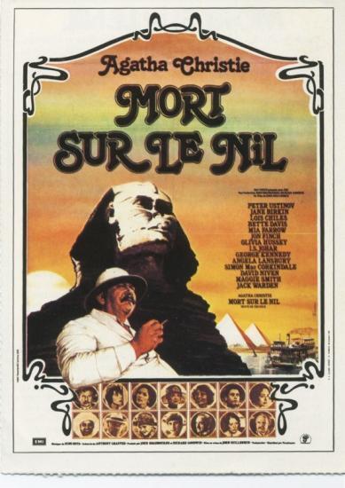 Jane Birkin affiche de film Mort sur le Nil, de John Guillermin