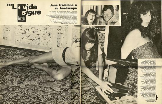 Jane Birkin article magazine espagnol Gaceta ilustrada n° 640 13 octobre 1974