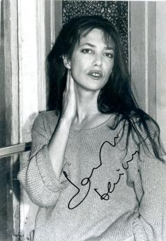 Jane birkin autographe