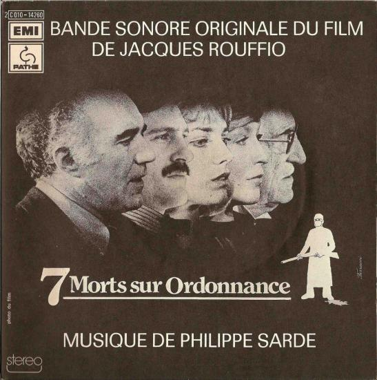 jane birkin BO du film 7 morts sur ordonnance musique de philippe sarde 45 tours sp-pressage france label pathe marconi emi