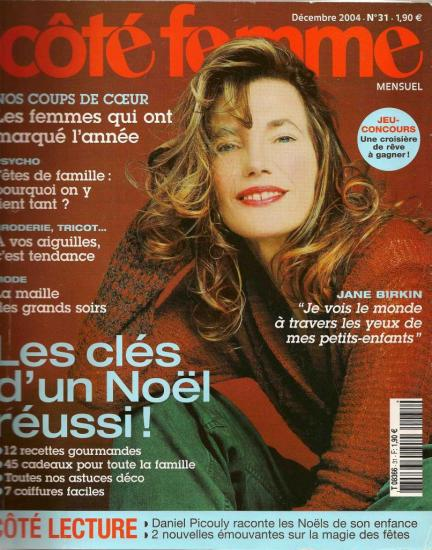 jane birkin couverture magazine cote femme n° 31-decembre-2004.jpg