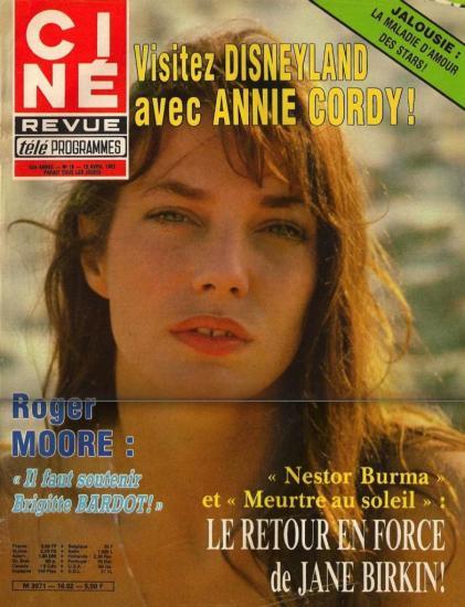 Jane Birkin - couverture Ciné revue n° 16 - 15 avril 1982