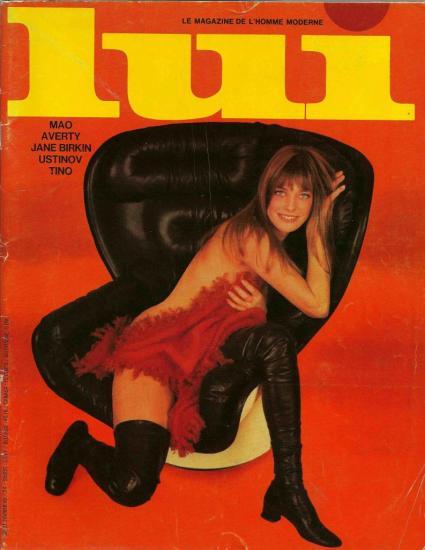 Jane Birkin couverture Lui le magazine de l'homme moderne n° 61 février 1969