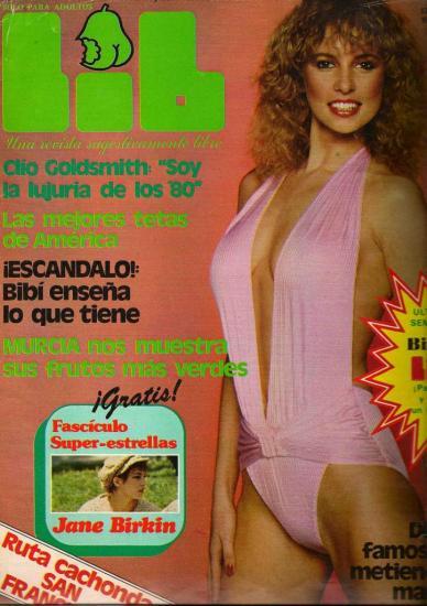 Jane Birkin couverture magazine LIB n° 260 ano 6 13 octobre 1981
