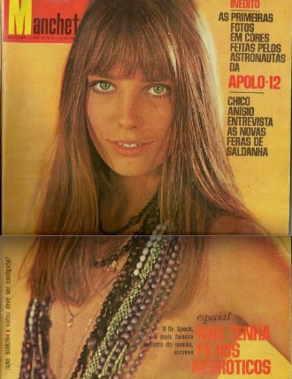 - Jane Birkin couverture magazine Manchete n° 921 ano 17 13 decémbre 1969