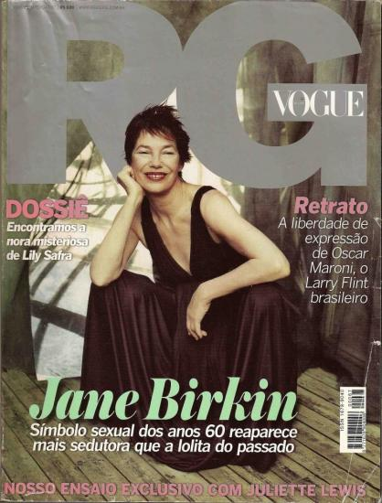 Jane Birkin couverture magazine RG Vogue n° 67