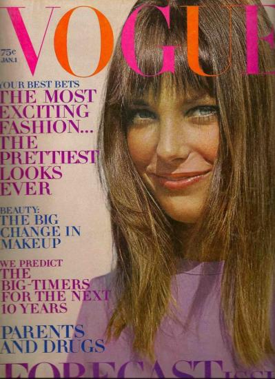 Jane Birkin couverture magazine Vogue janvier 1970