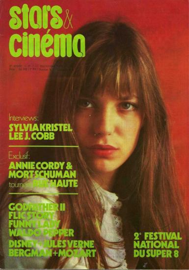 Jane Birkin couverture Stars & cinéma n° 7 - 3e année - septembre 1975