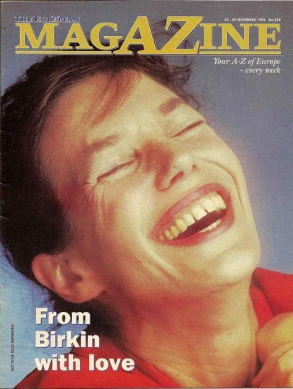 Jane Birkin couverture The European Magazine n° 289 23-29 novembre 1995