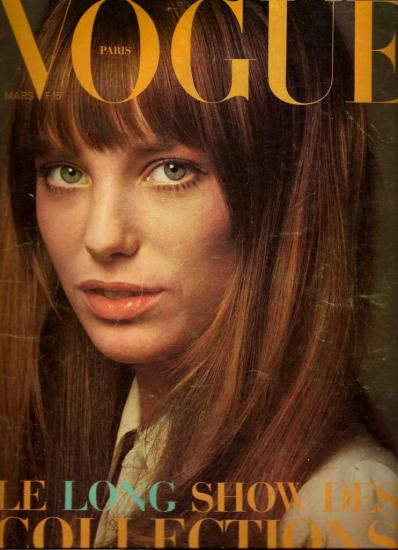 Jane Birkin couverture Vogue n° 504 mars 1970