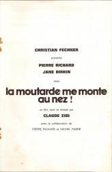Jane Birkin dossier de presse film La moutarde me monte au nez de Claude Zidi