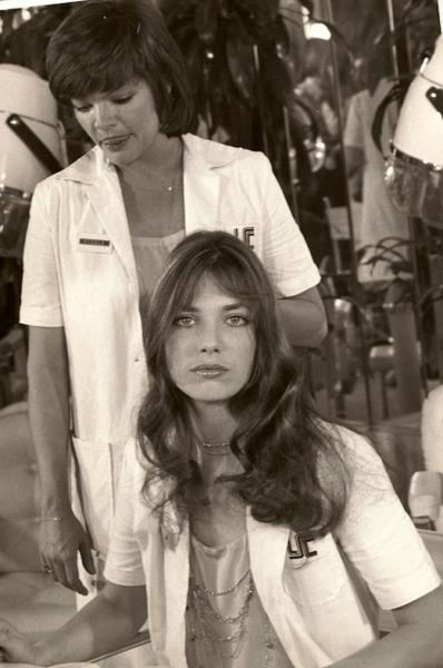 Jane birkin et catherine allegret photo de tournage la course a l e chalote de claude zidi