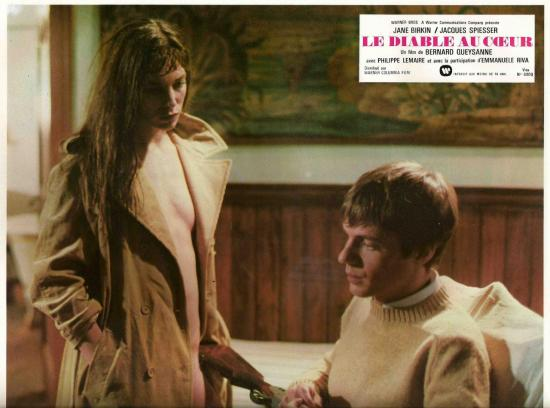 Jane Birkin et jacques Spiesser Le diable au coeur photos d'exploitation