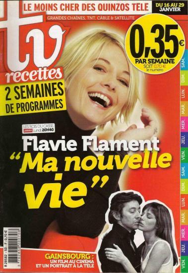 Jane Birkin et Serge Gainsbourg couverture TV recettes n° 50 du 16 au 29 janvier 2010