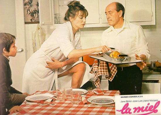jane Birkin film La miel, de Pedro Maso