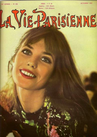 Jane Birkin photo couverture magazine 1969 La vie parisienne