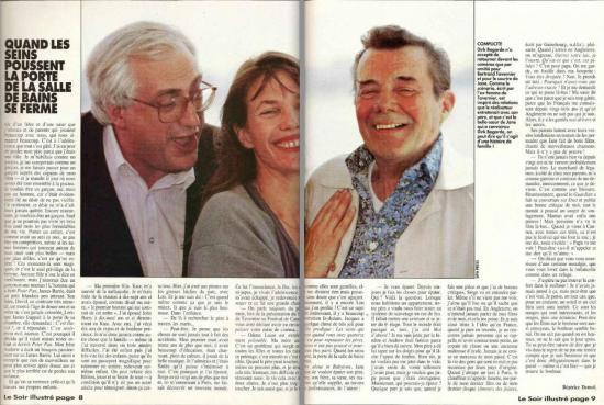 Jane Birkin Le Soir illustré n° 3039 du 2 septembre 1990