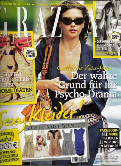 Jane Birkin magazine Grazia version allemande n° 17 20 avril 2011