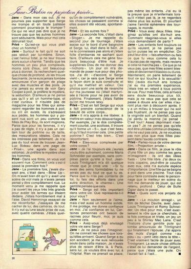 Jane Birkin magazine Privé n° 2