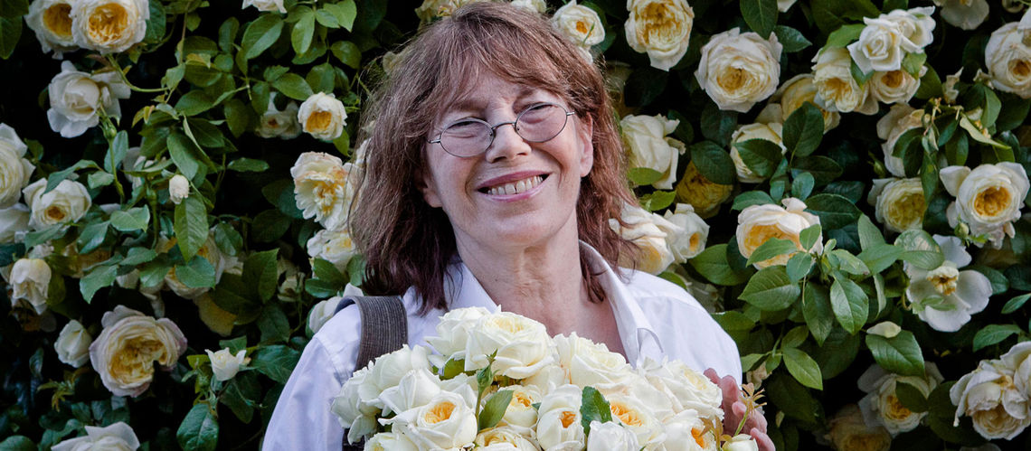 Jane birkin marraine de la rose amesty international