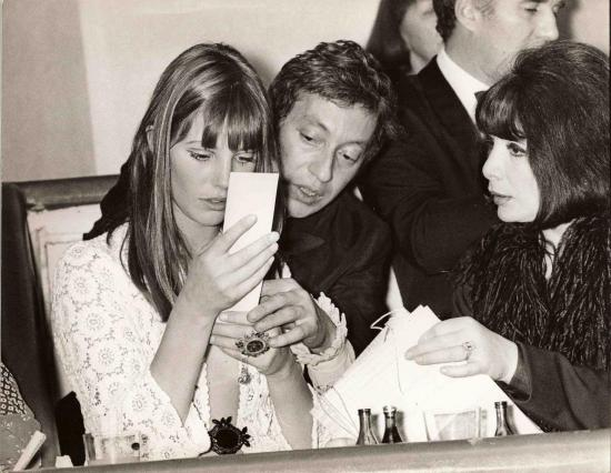 jane birkin, juliette gréco serge gainsbourg photo de presse