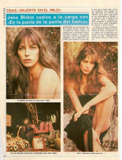 ane Birkin - Diez Minutos, presse etrangere, Espagne