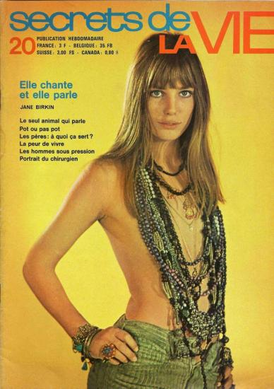 Jane Birkin photo couverture magazine Les secrets de la vie