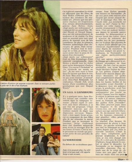 Jane Birkin - Story, presse etrangere, Belgique