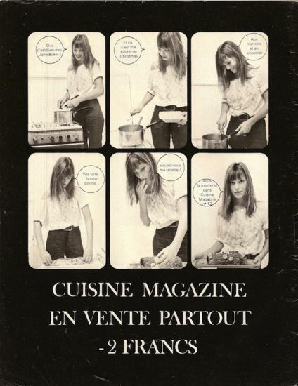 Jane birkin publicité cuisine magazine