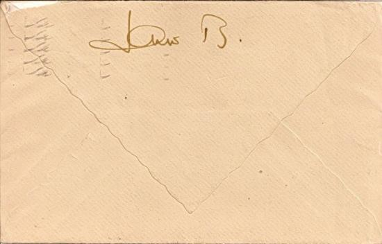 jaune birkin autographe courrier lettre