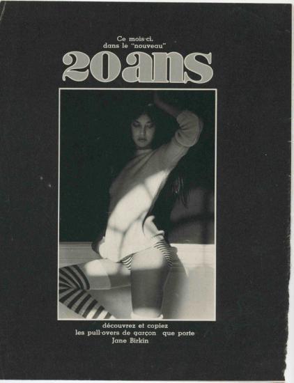 jane birkin pub magazine 20 ans