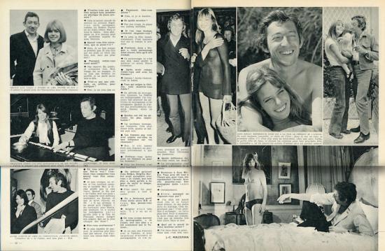 jane birkin et serge gainsbourg Noir et Blanc, n° 1287, 27 novembre -3 décembre 1969