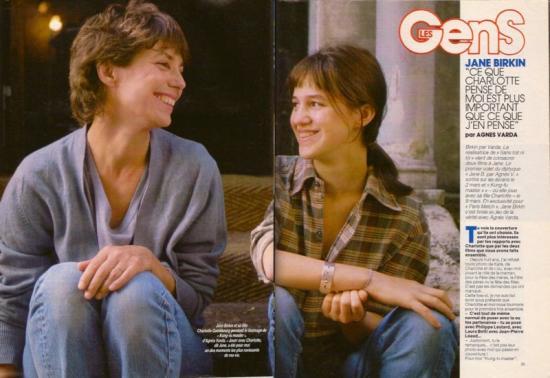jane birkin et charlotte gainsbourg parismatch-n-2021-19-fevrier-1988