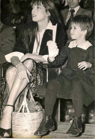 photo agence Jane Birkin et Charlotte Gainsbourg