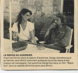 Jane Birkin et Serge Gainsbourg presse française